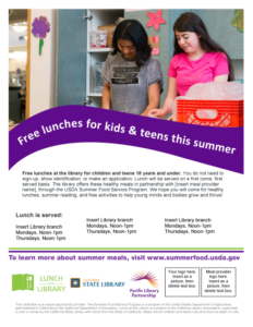 Lunch at the Library Kids and Teens flyer v1