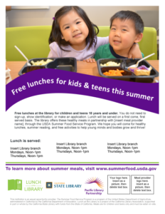 Lunch at the Library Kids and Teens flyer v3