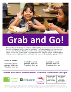 Lunch at The Library Grab and Go flyer v2