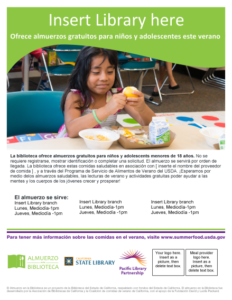 Spanish version of Lunch at The Library flyer